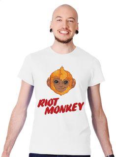 Riot Monkey Men's Slim Fit T-shirt Design by Ej madziu   Teequilla   Teequilla