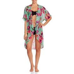 Shop for Juniors Swimwear in Juniors. Buy products such as No Boundaries Juniors Crochet Scoop Bikini Bottom at Walmart and save. Kimono Swim Cover Up, Kimono Top, Lana Del Rey Concert, What Should I Wear, Wish Shopping, Resort Wear, Things To Buy, Menswear, Swimsuits