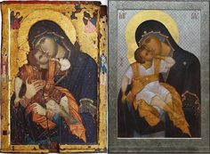 """Step-by-step: Documenting Anthony Gunin's creation of The Most Holy Theotokos """"Glykophilousa"""" icon — Steemit"""
