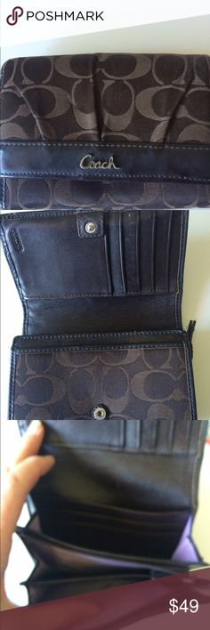 Coach Wallet Coach Brown Wallet.6x5. Gently Used Coach Bags Wallets
