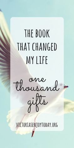 One Thousand Gifts by Ann Voskamp changed my life. Here's the story.