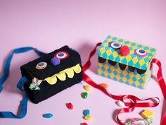 Monster Candy Box Recycled Craft | The kids can make these adorable monster boxes to store their secret candy stash this Halloween!