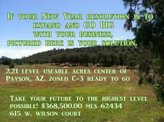 Commercial vacant land for sale in Payson, Az. Zoned C-3 2.21 acres