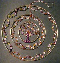 Faery Champagne Triple Tree of Life by CelestialWoodlands on Etsy, $25.00