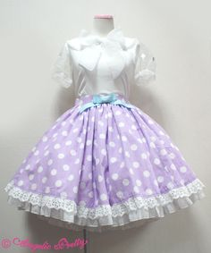 French Dot Dream skirt (Angelic Pretty)...oh how cute.