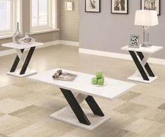 Go bold with the contemporary Coaster Furniture Modern 3 Piece Coffee Table Set . This three-piece set features a coffee table and two end tables,. 3 Piece Living Room Set, 3 Piece Dining Set, Living Room Sets, Living Room Furniture, Modern Furniture, Hall Furniture, Fine Furniture, Luxury Furniture, Furniture Ideas