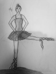 Ballerina sketch. Feel free to comment. Art by McKenna B