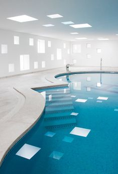 located in a hotel on the island of majorca this indoor pool and spa designed amazing indoor pool lighting