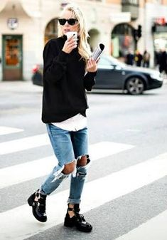 Rock 'n' Roll Style ✯ Balenciaga Cut Out Boots | Victoria Tornegren