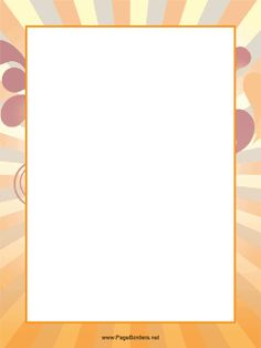 Great for announcements and events, this printable page border has orange and blue stripes that make it pop. Free to download and print.