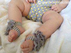 No Sew Baby Barefoot Sandals | Over The Big Moon