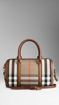 98044284fc Medium Sartorial House Check Bowling Bag | Burberry Borse Da Bowling, Borse  Alla Moda,