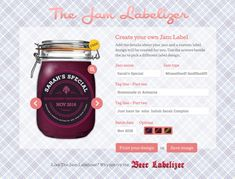 Create beautiful jam and preserve labels to print at home in less than 30 seconds. Choose from our free and premium designs, even upload your own images. Jam Label, Canning Labels, How To Make Jam, Pots, Beer Recipes, Label Templates, Printable Labels, Jar Gifts, Custom Labels