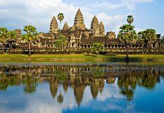 Ангкор Ват, Камбоджа. Озеро Тонлесап, вьетнамская плавучая деревня...
