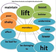 Collocations with the noun 'morale'.