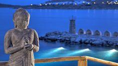 Mykonos Island Greece, Marina Restaurant, Santa Marina, Marina Resort, Mykonos Hotels, Resort Villa, Meditation Music, Hotels And Resorts, Lighthouse