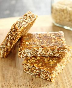 no-bake banana protein bars There's a LOT of ingredients, but it sounds DELICOUS, maybe some time.