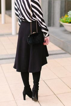 Monochrome Stripes // Shop this look on Fashion and Frills //http://fashionandfrills.com/black-white-is-anything-but-basic/