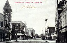 Florida Memory - Greetings from Orlando, Florida - Orange Avenue