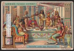 Ancient Egyptian Egypt Pharo Banquet Feast c1903 Card
