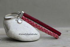 Schlüsselanhänger - Schlüsselanhänger mit WUNSCHTEXT - pink Engel - ein Designerstück von KleineSchatztruhe bei DaWanda