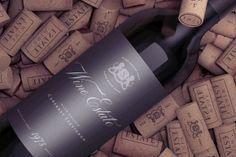 Wine Bottle Mock-Up on Corks