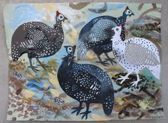 """Guinea Fowl"" print by Mark Hearld"