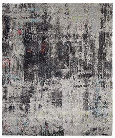 Artwork 8 by Jan Kath in black and white. Material: hand-spun Tibetan highland wool, Tibetan nettle fibre and silk. Custom size, shape and colours. Jan Kath, Turquoise Rug, Classical Elements, Patterned Carpet, Textile Patterns, Textiles, Fabric Painting, Abstract Pattern, Rugs On Carpet