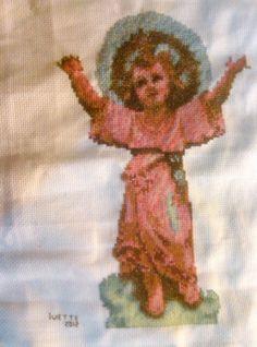 Imagen divino niño Jesús en #puntocruz