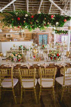 by Katya Nova Beach Destination Wedding Punta Cana Dominican Republic table setting gold chairs decor ideas