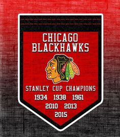 2015 Stanley Cup, Stanley Cup Champions, Blackhawks Hockey, Chicago Blackhawks, Chicago Hockey, Team Banners, Hockey Rules, Sports Decor, My Kind Of Town