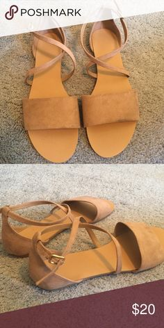 Super cute criss cross sandals BLACK FRIDAY SALE Good condition only worn a few times just don't fit :( Shoes Sandals
