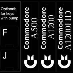 Commodore non transparent keyboard stickers Keyboard Stickers, Symbols, Keyboard Sticker, Icons