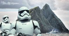 LÉ Samuel Beckett Patrols Skellig Michael During Filming Last Year For The New Star Wars Film (overlay). Photograph: Charles McQuillan/Getty.......