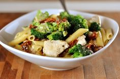 Skillet Chicken Pasta with Broccoli and Parmesan | Mel's Kitchen Cafe