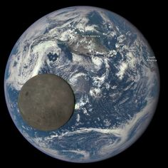 """A NASA camera aboard the Deep Space Climate Observatory (DSCOVR) has captured a unique view of the Moon as it passed between the spacecraft and Earth. A series of test images shows the fully illuminated """"dark side"""" of the Moon that is not visible from Earth."""