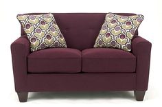 Aubergine Loveseat from the Eggleston Collection
