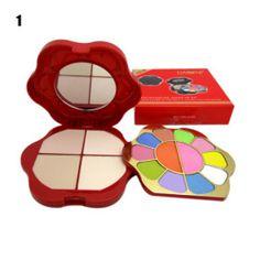 professionellen Make-up-Mini-Set - 10 Farben Lidschatten + 2 + 4 Farben Rouge Farben Puder