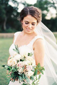 Organic Timeless Elegant Wedding Inspiration  www.katiegwebb.com katie webb photography #film #fineart #austin #austinphotographer #bride #bouquet #wedding