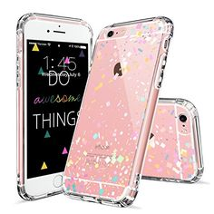 Amazon.com: iPhone 6s Plus Case, iPhone 6 Plus Cover, MOSNOVO Colorful Confetti Pattern Clear Design Printed Plastic Hard Back Case with TPU Gel Bumper Protective Case Cover for Apple iPhone 6 6s Plus (5.5 Inch): Cell Phones & Accessories