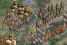 Αναπαράσταση αντίπαλων της μάχης των Πλαταιών Battle Of Plataea, Ancient Greece, War, History, Pictures, Temples, Painting, Philosophy, Legends