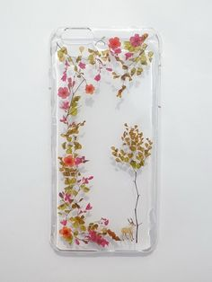 Annys workshop, Handmade phone case, Pressed flowers with nature, Autumn