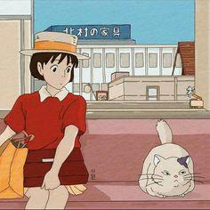 Whisper of the heart Studio Ghibli Art, Studio Ghibli Movies, Hayao Miyazaki, Aesthetic Anime, Aesthetic Art, Old Anime, Anime Art, Film Animation Japonais, Chihiro Y Haku