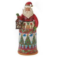 Enesco Jim Shore Heartwood Creek Santa with Lantern Figurine, 10-Inch >>> You can get more details by clicking on the image.