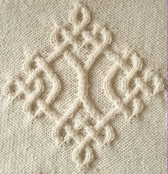 Ravelry: Celtic Diamond (#20) pattern by Devorgilla's Knitting (sometimes...)