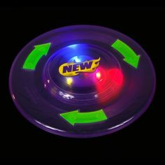 Light Up Flying Disk by DOMAGRON. $5.95. Create an awesome visual image with a simple toss. When you press a button on the bottom of the disc, a shimmering show of multi-color light is produced. Batteries included.