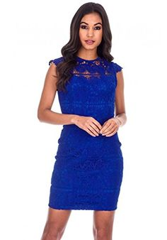 AX Paris Womens Crochet Detail Mini DressBlue *** Check out the image by visiting the link. (This is an affiliate link) Robes Pour Juniors, Fashion Images, Women's Fashion, Womens Cocktail Dresses, Review Dresses, Junior Dresses, Girls Night Out, Trendy Plus Size, Blue Lace