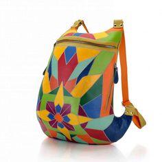 Рюкзак разноцветный пэчворк / Рюкзаки ручной работы