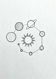 drawings space tattoos easy pencil simple