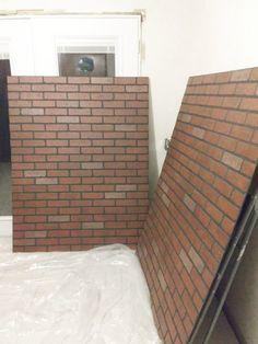 How to Install a Faux Brick Backsplash – Craftivity Designs Whitewash Brick Backsplash, White Brick Backsplash, Backsplash Panels, Brick Tiles, Kitchen Backsplash, Kitchen Brick, Kitchens With Brick Walls, Kitchen White, Backsplash Ideas